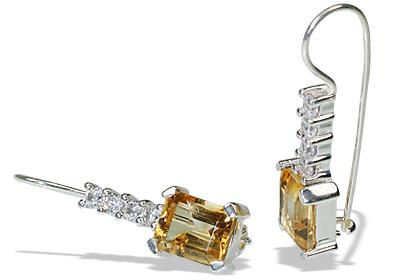 art-deco citrine earrings 6