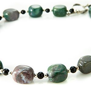 Green and Pink Jasper Necklace