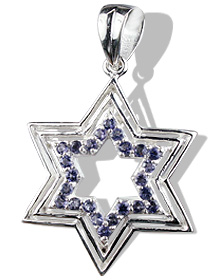 Star Iolite Pendants