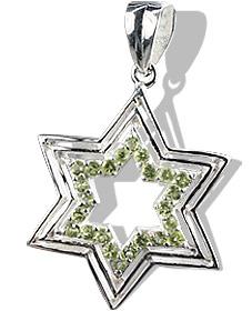 star peridot pendants