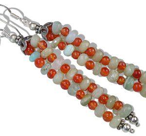 multistrand carnelian earrings 2