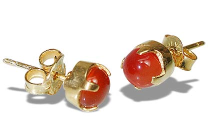 Carnelian Gold Plated Studs