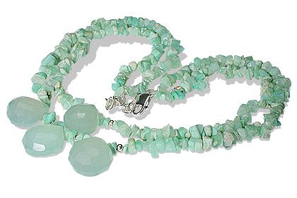 chipped chrysoprase necklaces 2