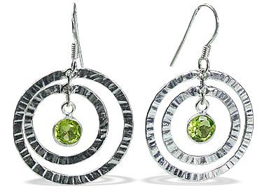 Art-deco Peridot Earrings 5