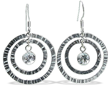 Art-deco White Topaz Earrings 2