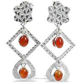 art-deco carnelian earrings 2