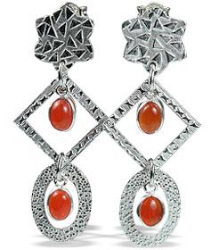 Art-deco Carnelian Earrings 3