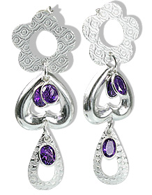 Drop Amethyst Earrings 4