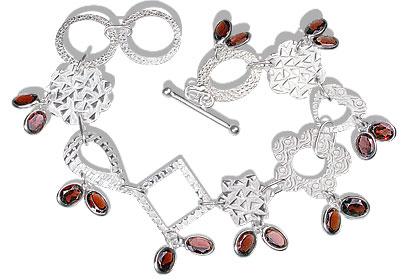 Contemporary Garnet Bracelets