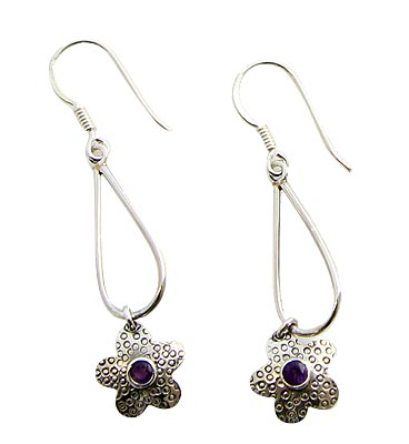 Faceted Amethyst Earrings 9