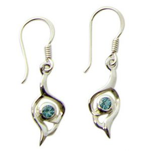faceted blue topaz earrings 10