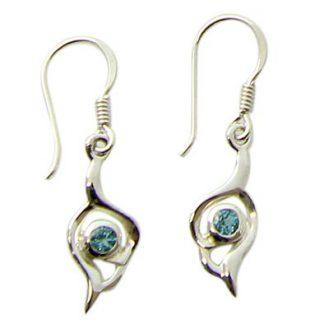 faceted blue topaz earrings 10