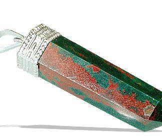 pencil bloodstone pendants