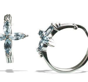 flower blue topaz earrings 2