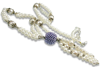 Pearl and Iolite Necklace 2