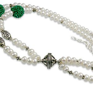 Pearl and Malachite Necklace