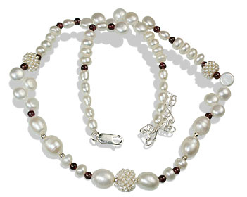 Pearl And Garnet Necklace 9