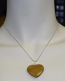 Camel Jasper Heart Pendant