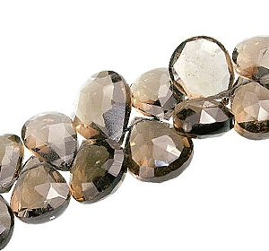 Faceted Smoky Quartz Briolettes (5-11mm)