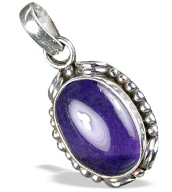 Oval Amethyst Cabochon Pendant