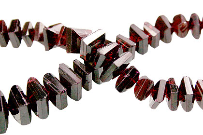 Garnet Twist Beads (5-9mm)
