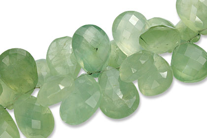 Prehnite Briolettes Beads (16-21mm)
