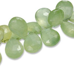 Faceted Prehnite Briolettes (10-14mm)
