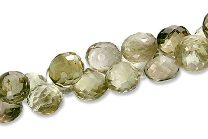 Faceted Petro Lemon Quartz Briolettes (9mm)