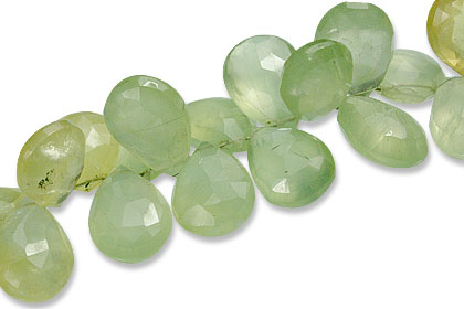 Faceted Prehnite Drop Beads (9-17mm)