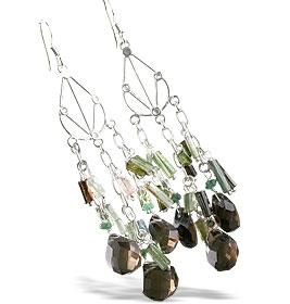 Chandelier Smoky Quartz Earrings 8