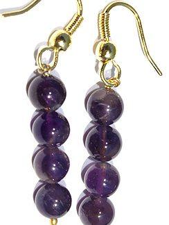 drop amethyst earrings