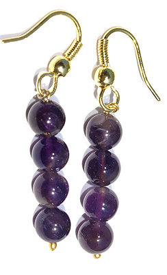 Drop Amethyst Earrings