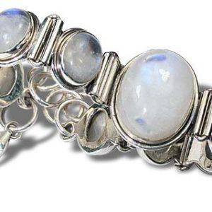Sterling Silver Moonstone Bracelet