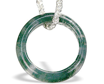 Moss Agate Ring Pendant 2