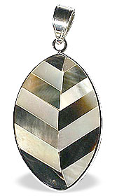leaf mother-of-pearl pendants
