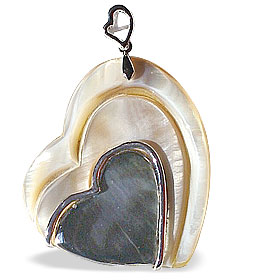 heart mother-of-pearl pendants
