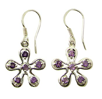 Faceted Amethyst Earrings 10