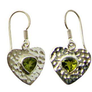 faceted peridot earrings 10