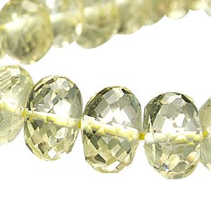 Faceted Petro Lemon Quartz Rondelle Beads (5x8mm) 3