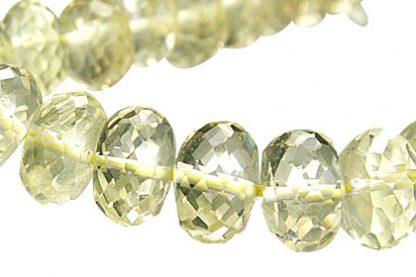 Faceted Petro Lemon Quartz Rondelle Beads (5x8mm) 3