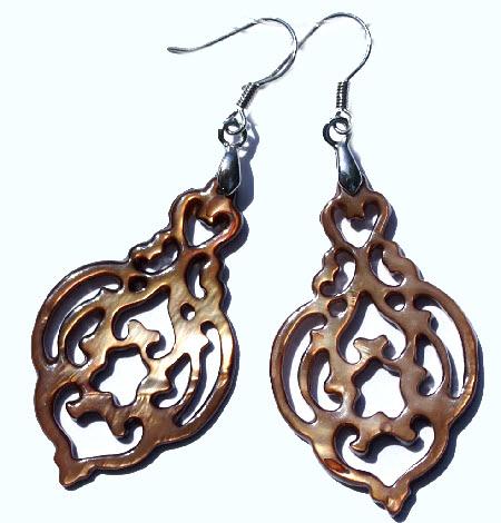 Art-deco Shell Earrings