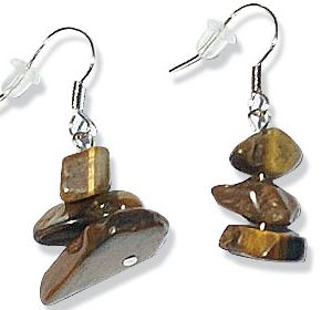 chipped tiger eye earrings 2