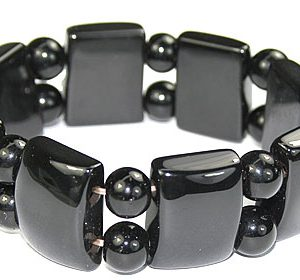 stretch black onyx bracelets 2