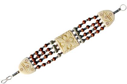 Red Jasper Bone Bracelet