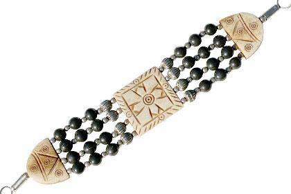 Black Jasper Bone Bracelet