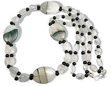 Black Tourmalated Quartz Necklace 6