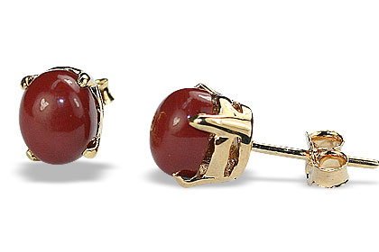 Red Jasper Stud Earrings