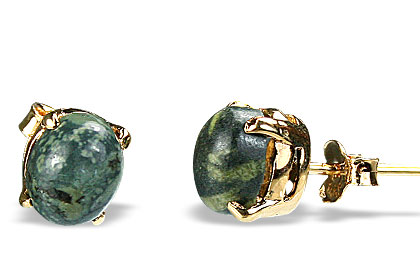 Green Jasper Stud Earrings