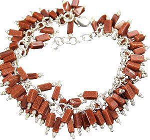 clustered sunstone bracelets