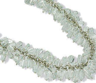 clustered aquamarine necklaces
